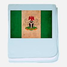 Vintage Nigeria Flag baby blanket