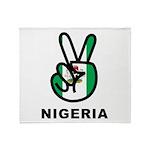 Nigeria Peace Throw Blanket
