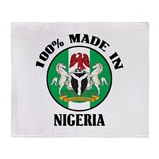 Made In Nigeria Throw Blanket