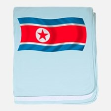 Wavy North Korea Flag baby blanket