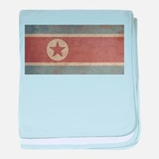Vintage North Korea Flag baby blanket