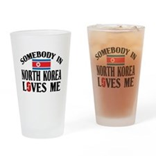 Somebody In North Korea Pint Glass