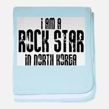 Rock Star In North Korea baby blanket