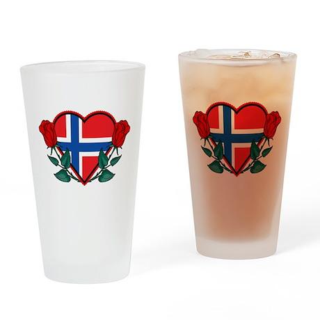 Heart Norway Pint Glass