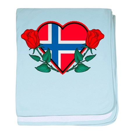 Heart Norway baby blanket