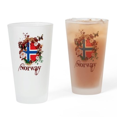 Butterfly Norway Pint Glass