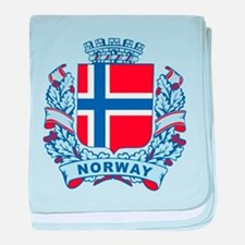Stylish Norway Crest baby blanket