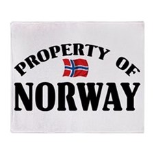 Property Of Norway Throw Blanket
