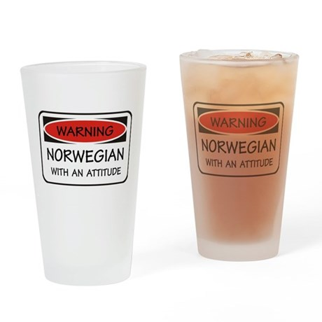 Attitude Norwegian Pint Glass