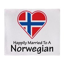 Happily Married Norwegian Throw Blanket