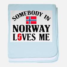 Somebody In Norway baby blanket