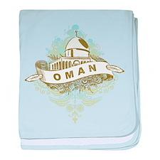 Mosque Oman baby blanket