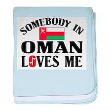 Somebody In Oman baby blanket