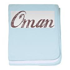 Vintage Oman baby blanket