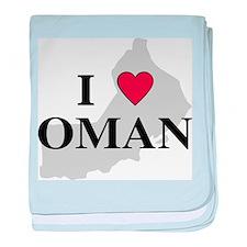 I Love Oman baby blanket