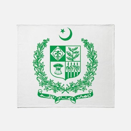Pakistan Coat Of Arms Throw Blanket