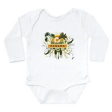 Palm Tree Panama Long Sleeve Infant Bodysuit