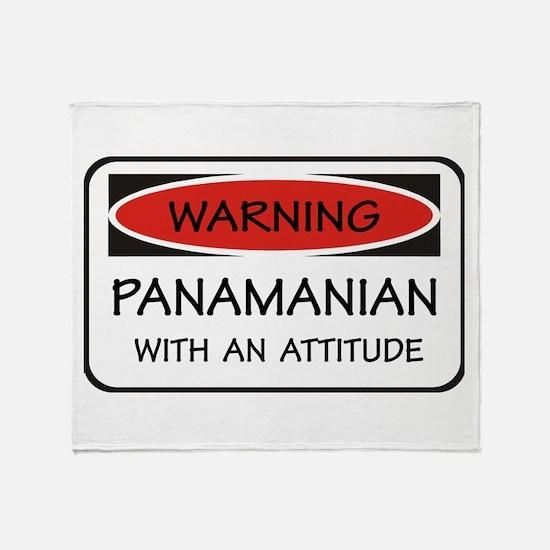 Attitude Panamanian Throw Blanket