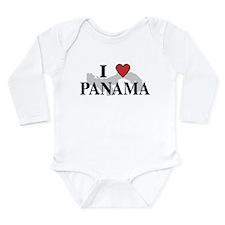 I Love Panama Long Sleeve Infant Bodysuit