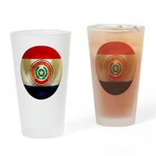 Paraguay Football Pint Glass