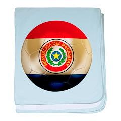 Paraguay Football baby blanket