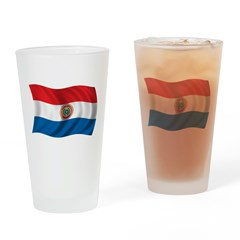 Wavy Paraguay Flag Pint Glass