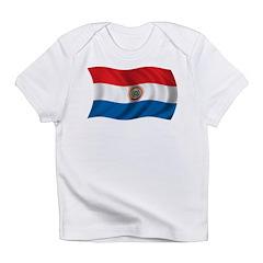 Wavy Paraguay Flag Infant T-Shirt