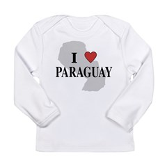 I Love Paraguay Long Sleeve Infant T-Shirt