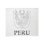Vintage Peru Throw Blanket