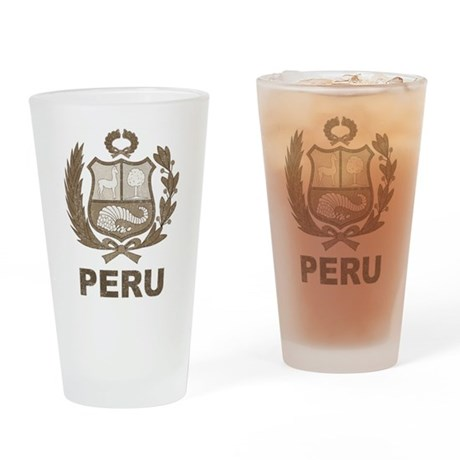 Vintage Peru Pint Glass
