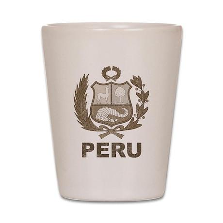 Vintage Peru Shot Glass