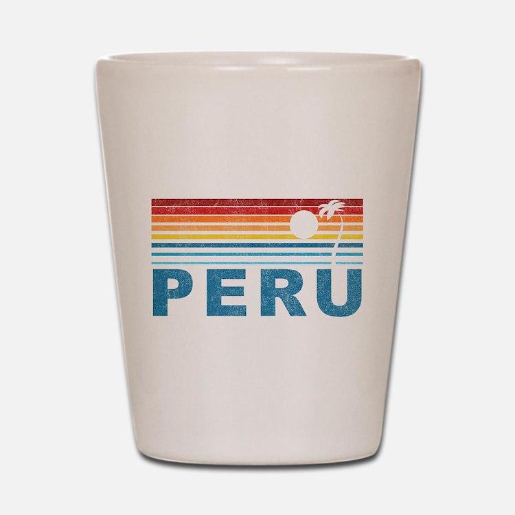 Retro Peru Palm Tree Shot Glass