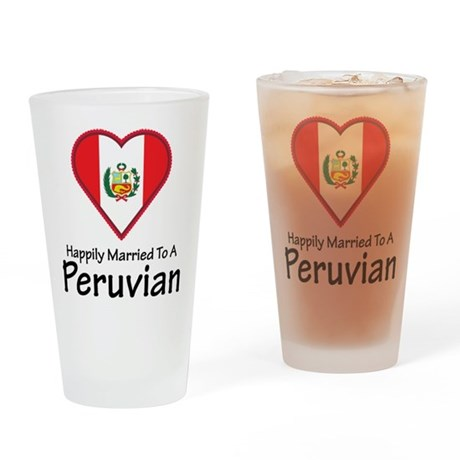 Happily Married Peruvian Pint Glass