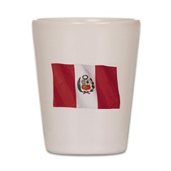 Wavy Peru Flag Shot Glass