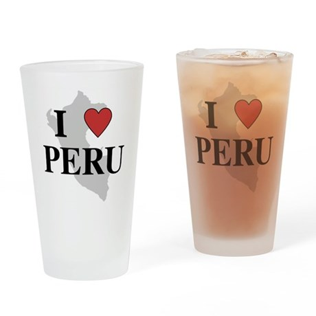 I Love Peru Pint Glass