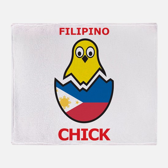 Filipino Chick Throw Blanket
