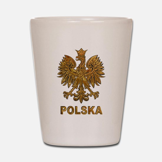 Gold Polska Shot Glass