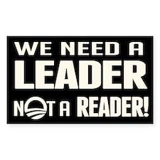 Leader Not Reader Decal