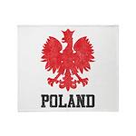 Vintage Poland Throw Blanket