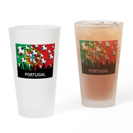 Portugal Football Pint Glass