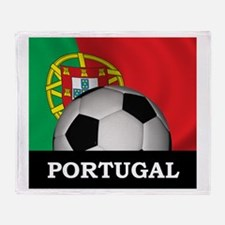 Portugal Football Throw Blanket