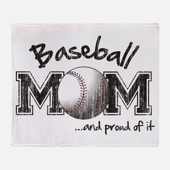 Cute Baseball mom Throw Blanket