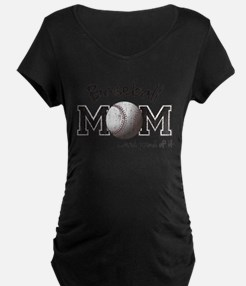 Baseball Mom...and proud of it Maternity T-Shirt