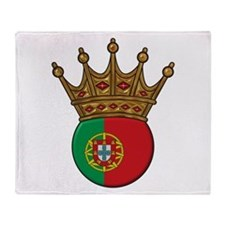 King Of Portugal Throw Blanket