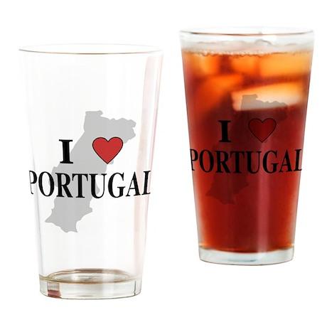 I Love Portugal Pint Glass