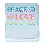 Peace Love Puerto Rico baby blanket