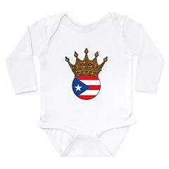 King Of Puerto Rico Long Sleeve Infant Bodysuit