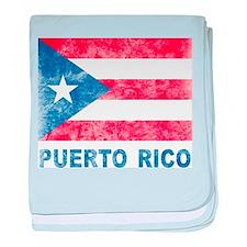 Vintage Puerto Rico baby blanket