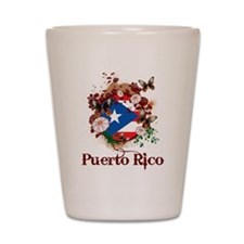 Butterfly Puerto Rico Shot Glass