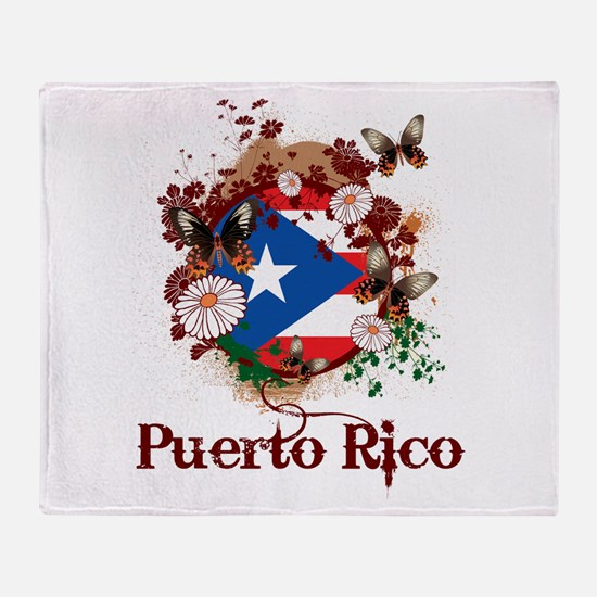 Butterfly Puerto Rico Throw Blanket